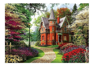 Rompecabezas Trefl X 1000 Piezas - Cottage Victoriano
