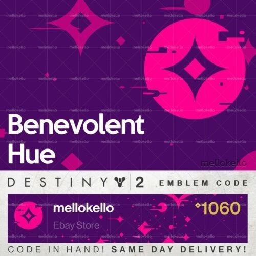 Imagen 1 de 1 de Destiny 2 - Benevolent Hue Emblem Code Ps4-pc-xbox