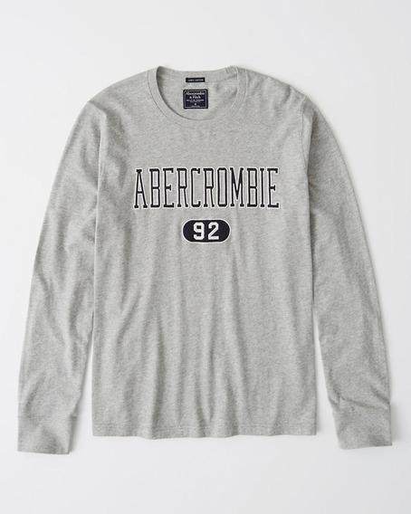 Playeras Abercrombie Aplique Long-sleeve 100% Originales