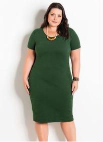 Roupa Feminina Vestido Plus Size Verde Militar Top 2019