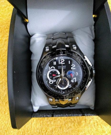 Relógio Orient Flytech Mbttc002 Titânio Aviador Lindo