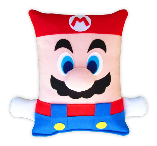 Pelúcia - Almofada Super Mario Bros Artesanal Em Feltro