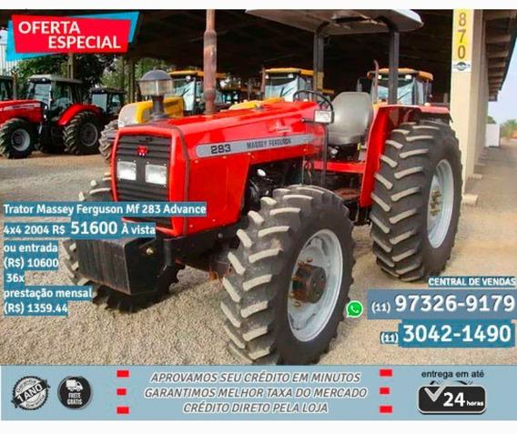 Trator Massey Ferguson Mf 283 Advance 4×4 2004 - Vermelho