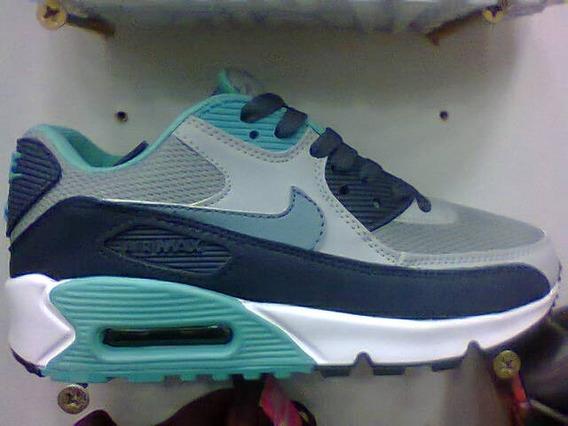 Tenis Nike Air Max 90 Azul E Cinza Nº42 Original Na Caixa!!!