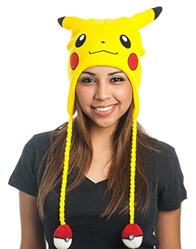 Bioworld Pokemon Pikachu Laplander Gorro De Lana Con Orejas