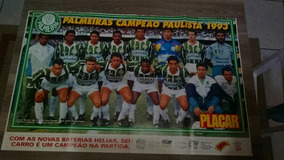 Poster Gigante Palmeiras Paulista 1993 82 X 53 Cm