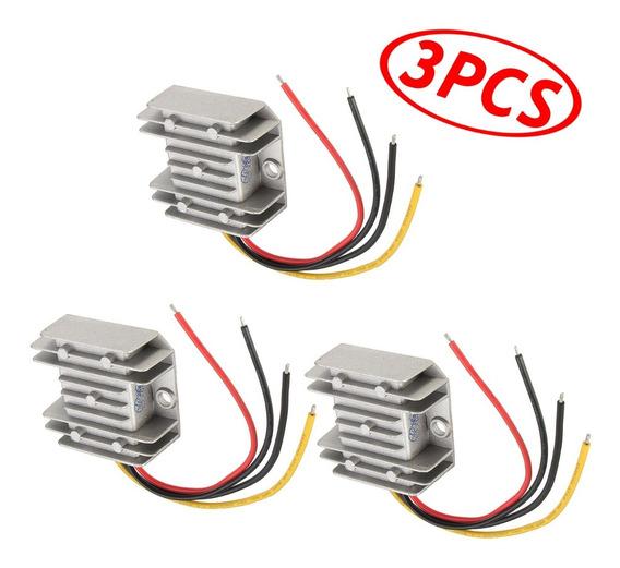 3x Conversor De Tensão Dc-dc 24v Para 12v 60w 5a