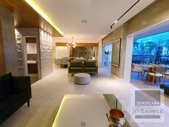 Apartamento Com 4 Dormitórios À Venda, 314 M² Por R$ 2.480.000 - Edifício Dijon - Sorocaba/sp, Próximo Ao Shopping Iguatemi E Supermercado Walmart. - Ap0152