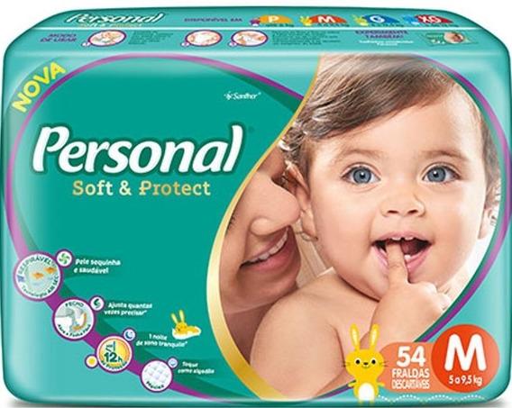 Fraldas Descartáveis Personal Baby Tamanho M 216 Unidades