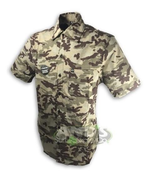 Camisa Botão Florido Camuflado Camisão Havaiano Marcas