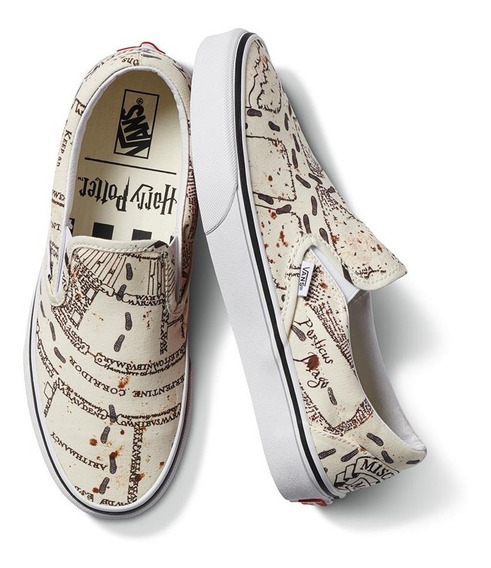 Tenis Vans Harry Potter Classic Slip-on Mapa Merodeador