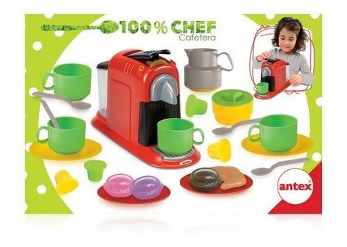 Set De Comiditas Cafetera Antex 100% Chef Educando Full