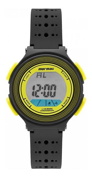 Relógio Mormaii Fun Unissex Silicone Preto Amarelo Original