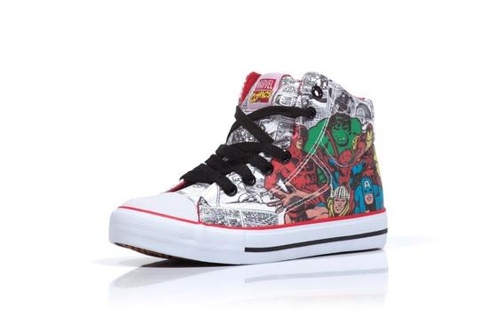 Zapatillas Botitas Atomik Marvel Niños Comics All