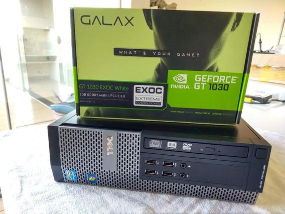 Mini Pc Gamer Dell I5 3.2ghz 16gb + Hd Ssd 240 + Gt1030 2gb