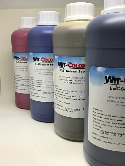 Tinta Eco Solvente Para Cabeças Epson Dx4 Dx5 E Dx7