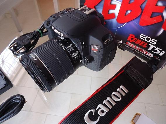 Câmera Dslr Canon T5i Com Lente 18-55mm Stm, Na Caixa