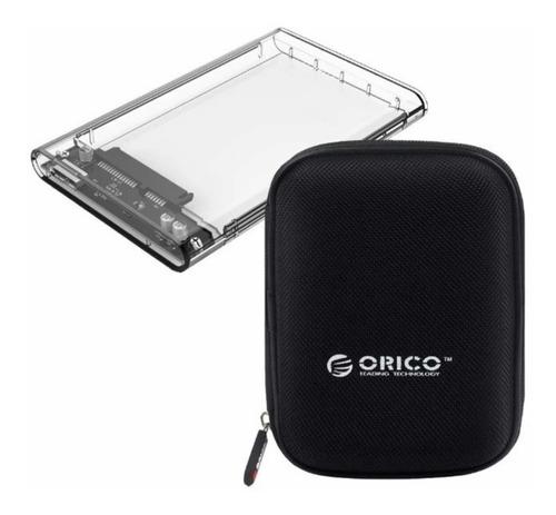 Cofre Transparente Para Hdd/ssd Sata 2.5 Usb3.0 Orico + Case