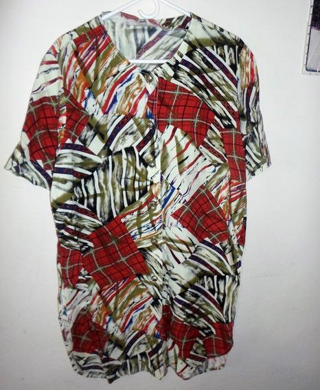 Conjunto Estampado De Dama Blusa Pantalón Talla 10 Usa 3dlrs