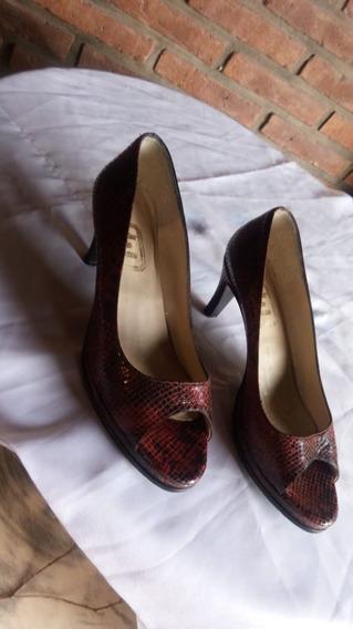 Zapatos Mujer De Cuero Con Taco Talle 40