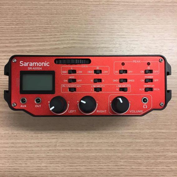 Smartmixer Para Câmera Dslr Saramonic Sx-ax104 - 2 Canais