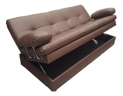 Sofa Cama Baúl Multifuncional Colchoneta Click 3 Posiciones