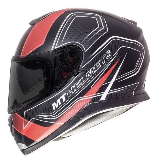 Casco Moto Mt Helmets Thunder 3 Sv Trace Rojo Motocity