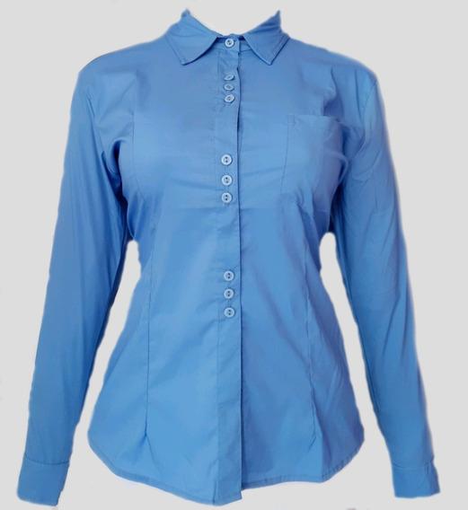 Camisa Modelo Margarita Para Dama Color Azul