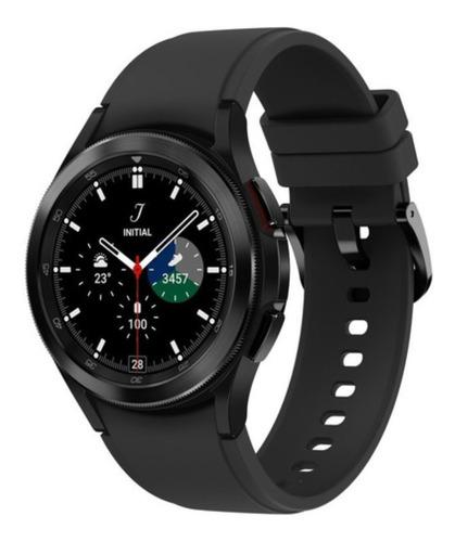 """Imagen 1 de 5 de Samsung Galaxy Watch4 Classic 1"""" caja 42mm  negra malla  negra de  silicona y bisel  negro de  aluminio"""