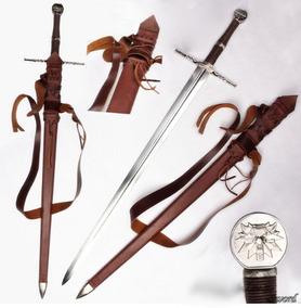 Espada Medieval Afiada Funcional Aço Carbono Witcher3 Ps4