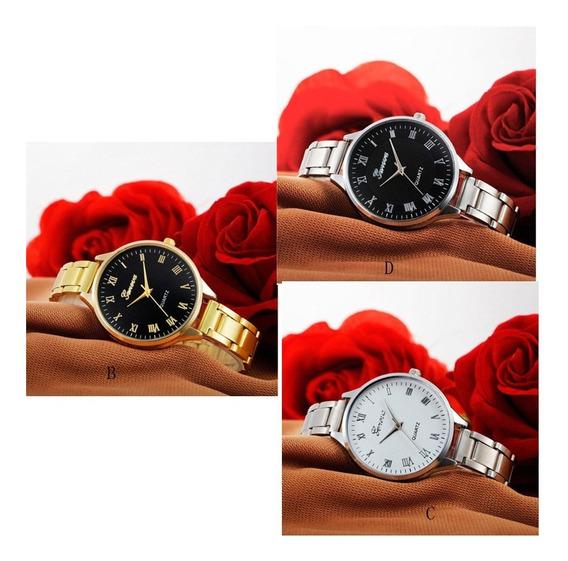 Relógio Feminino Geneva Kit Com 3 Unds Oferta Fim De Ano