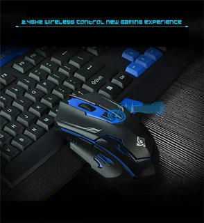 Kit Inalambrico Teclado Y Mouse 2.4ghz Chip Gamer