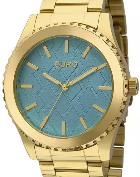 Relógio Euro Feminino Dourado Eu2036ydz/4a - ( Nfe )