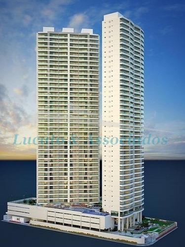 Apartamentos Alto Padrão Pronto Para Morar No Boqueirão Em Praia Grande Sp, Frente Mar!!!!!! - Ap00398 - 2595037