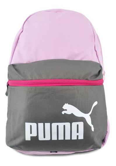 Mochila Puma Unisex Phase Rosa/gris