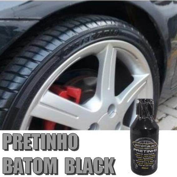 Gel Pretinho Para Pneu Carro E Moto Batom Black 200ml