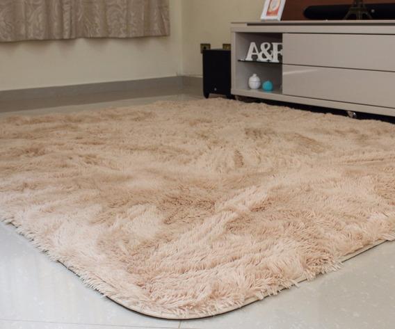 Tapete Sala / Quarto Bege 1,00x1,50 ( Fios 4cm )