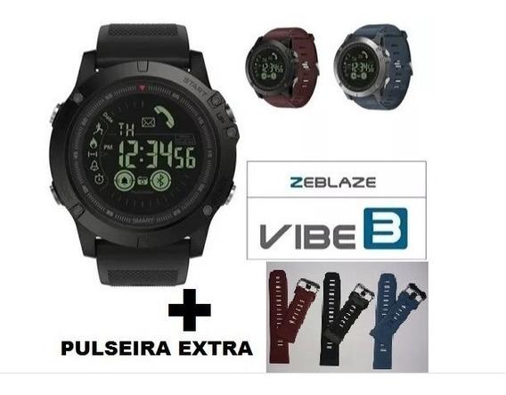 Relógio Zeblaze Vibe 3 Ip67 Gorilla Glass 4 + Pulseira Extra