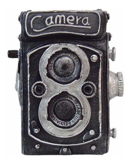 Câmera Antiga Retro Vintage Cofre Decorativa Detalhada