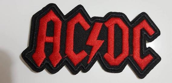 Patch Bordado Ac/dc 9.3 Cm