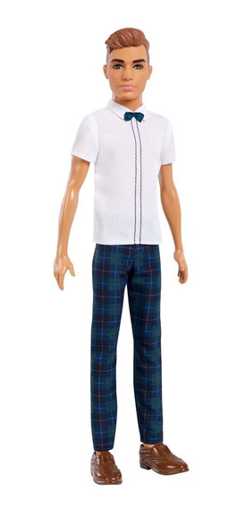 Boneco Ken Fashionistas - Camisa Com Gravata Borboleta E Cal