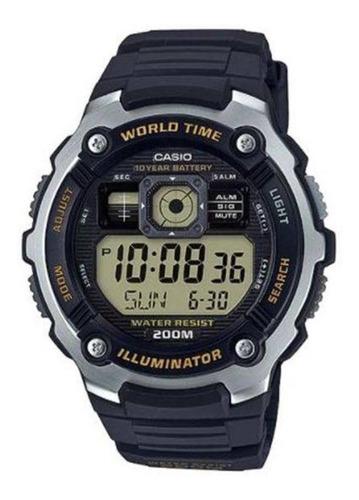 Relógio Masculino Casio Ae-2000w-9avdf - Prata/preto