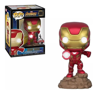 Funko Pop! Iron Man Lights Up #380 Edición Especial Limitada