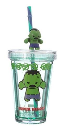 Copo Com Canudo Miniso - Hulk