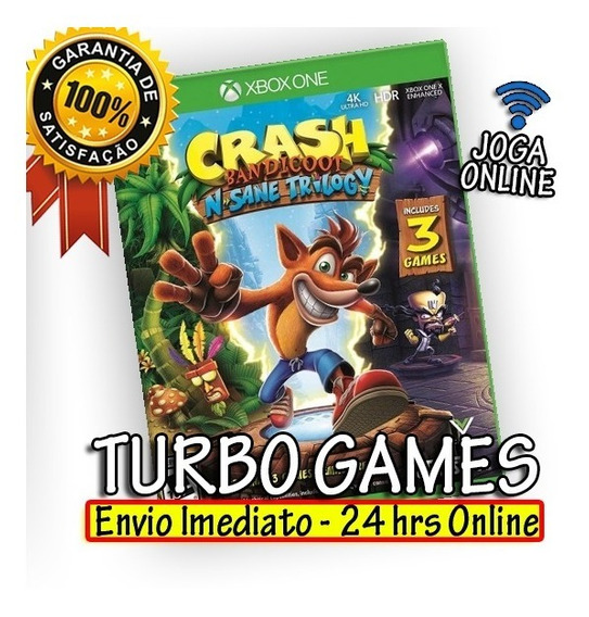 Crash Bandicoot N. Sane Trilogy Xbox One + Brinde