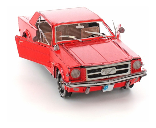 Ford Mustang Rojo 1965  3d Metal Rompecabezas Fascinations