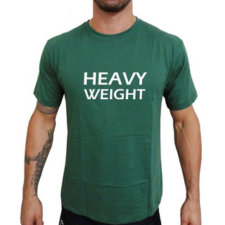 Camiseta Mma Shop Heavy Weight Peso Pesado Verde Musgo