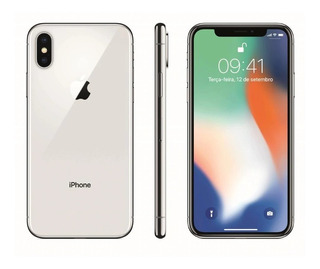 iPhone X Apple 256gb, Tela Retina Hd 5,8, Ios 11, Prateado
