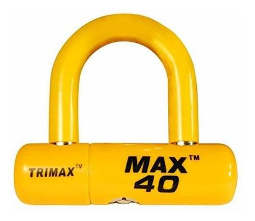 Trimax Max40yl Moto Disco Candado En U Color Amarillo Con Am