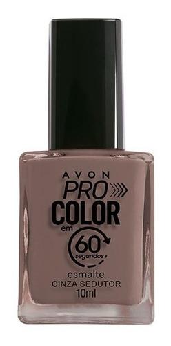 Imagem 1 de 1 de Avon - Pro Color 60 Segundos - Esmalte - Cinza Sedutor